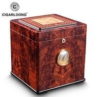 CIGARLOONG Cigar moisturizing box cedar alcohol mellow piano paint moisturizing large double storey CA 4003