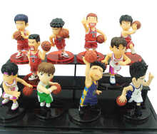 High Quality Japanese anime SLAM DUNK Basketball Player   PVC Action Figures 10PCS/SET Best Children Gifts