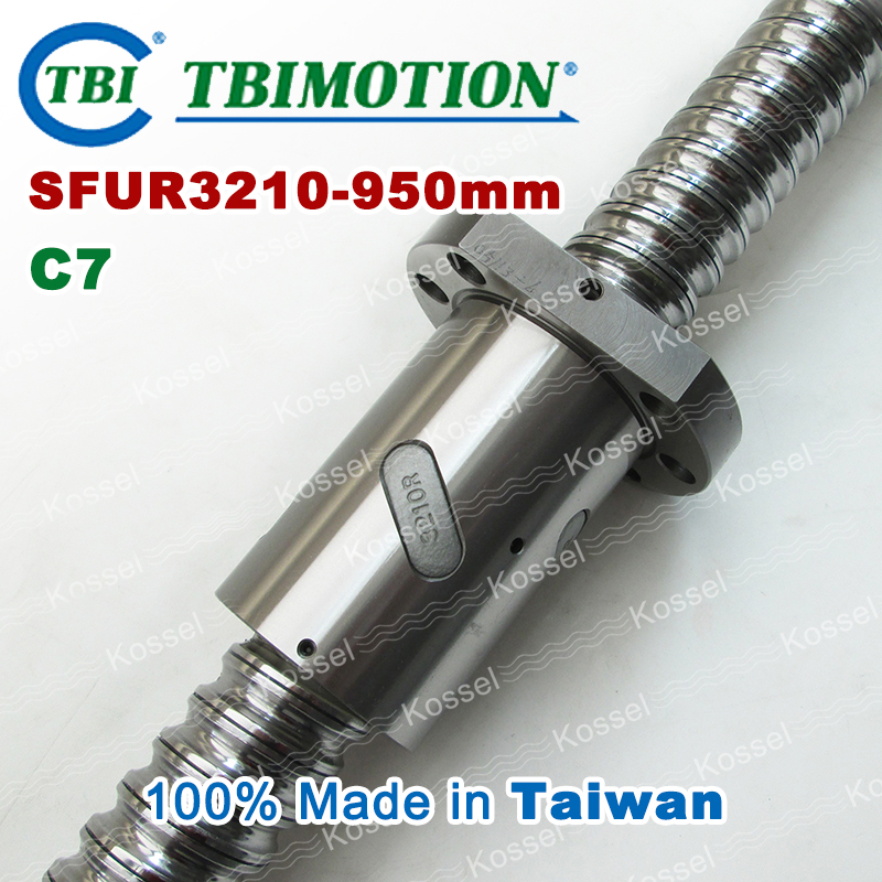 TBI 3210 C7 950mm ball screw 10mm lead with SFU3210 ballnut of SFU set end machined for high precision CNC diy kit tbi 2510 c3 620mm ball screw 10mm lead with dfu2510 ballnut end machined for cnc diy kit dfu set