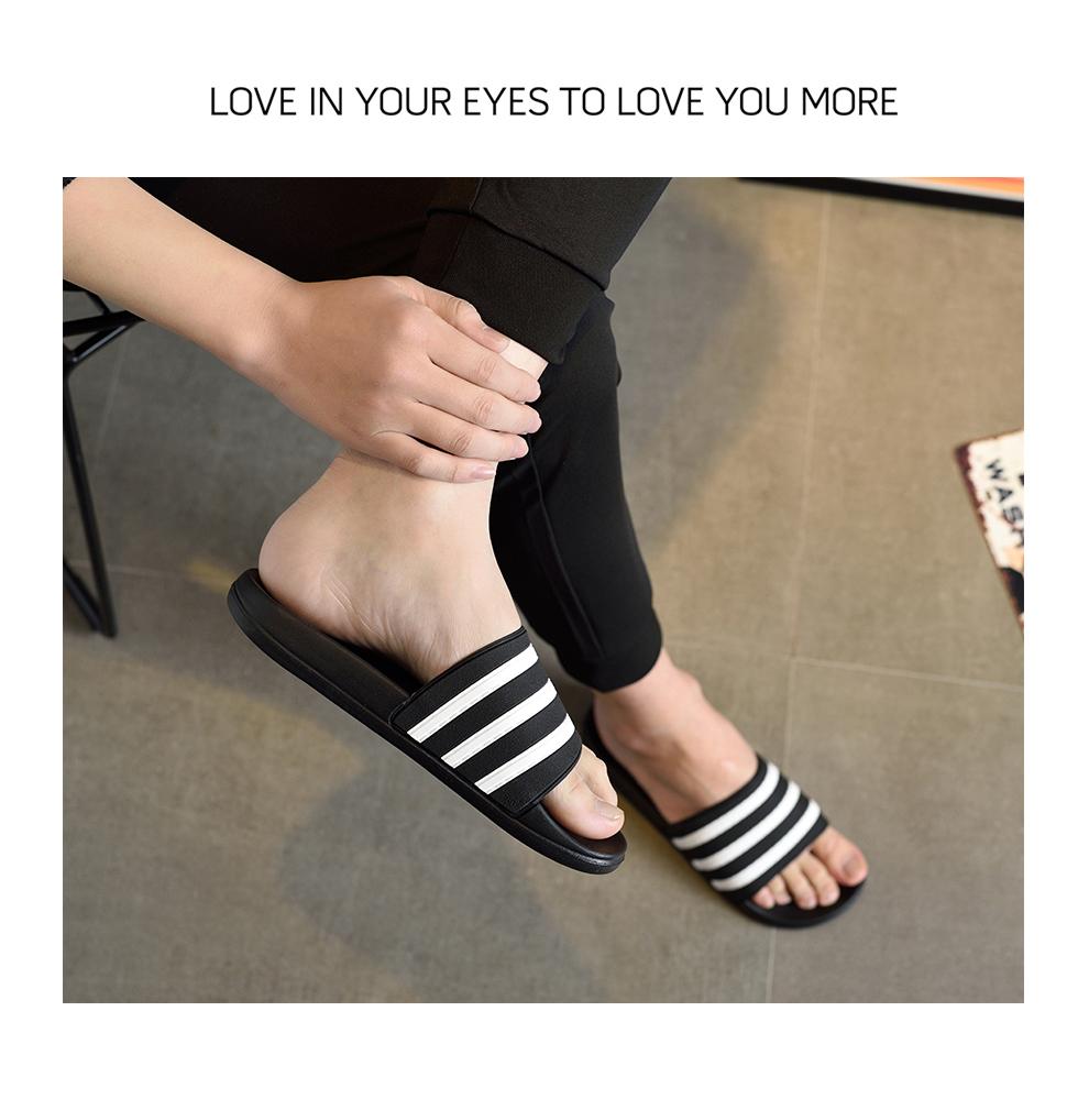 dfe1a397c2e4e1 Sapatos ASIFN Mulher Homens EVA Chinelo Sandálias Casal Preto e Branco  Listras Casuais Flip Flops Verão Chaussures Femme