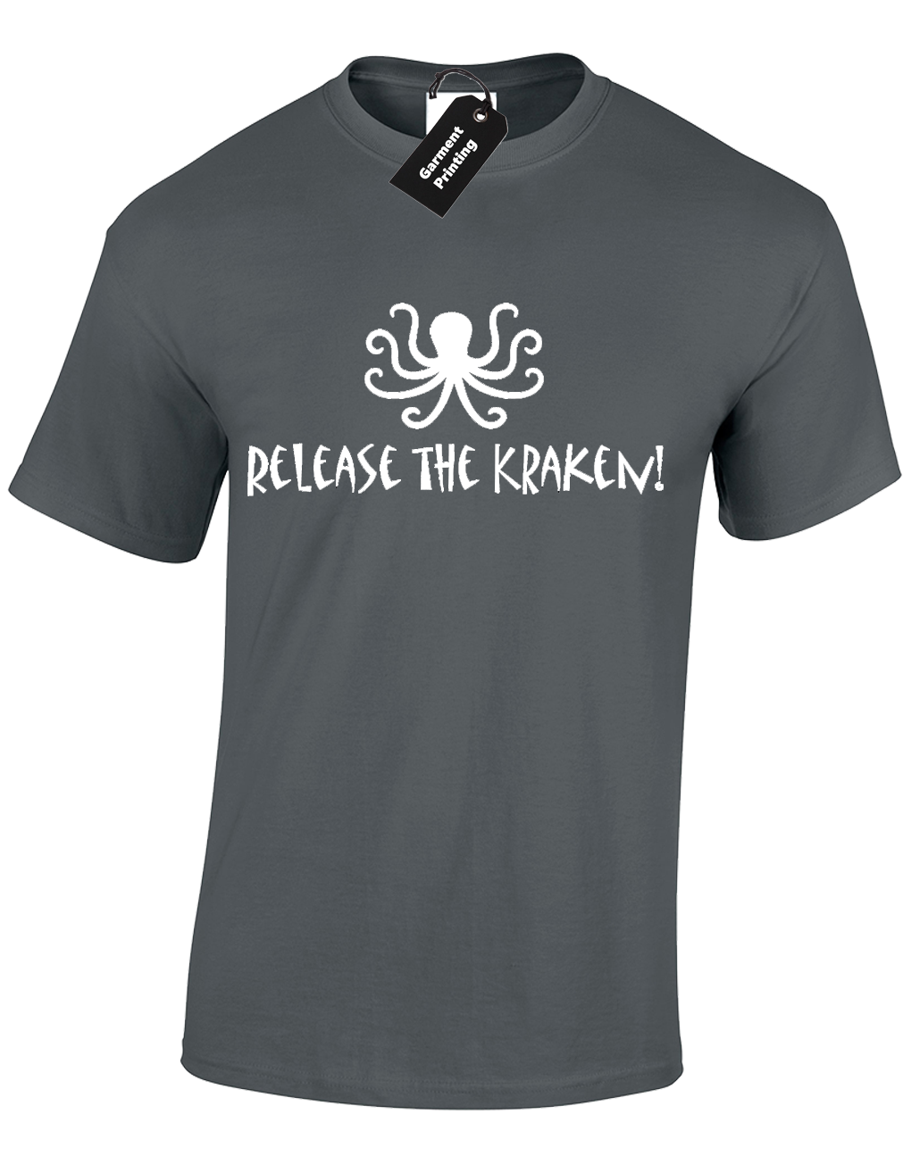 RELEASE THE KRAKEN MENS T SHIRT TITAN MONSTER SQUID OCTOPUS SHIP BOAT SEA Cartoon t shirt men Unisex New Fashion tshirt
