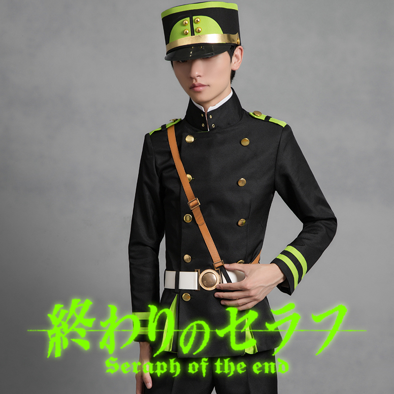 Anime Seraph of The End Yuichiro Hyakuya Cosplay Costume Anime Owari No Seraph Vampire Dress Outfit with Free Wig and Cloak