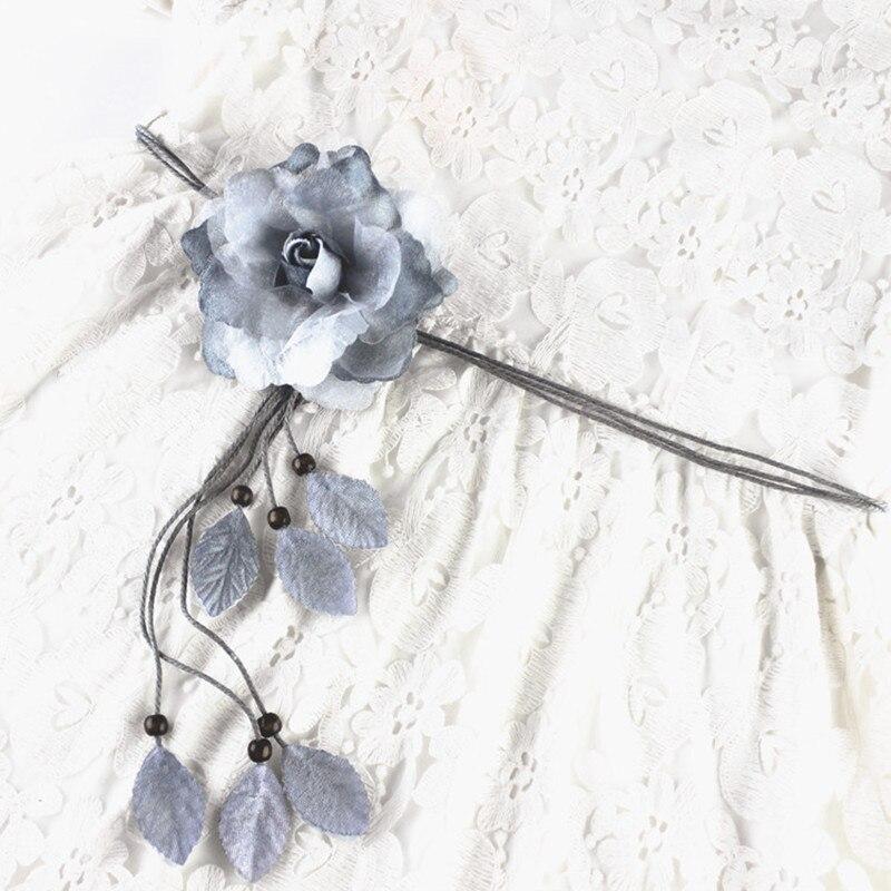fashion flower string tassel women waist belts for dresses knot female ladies ceinture femme