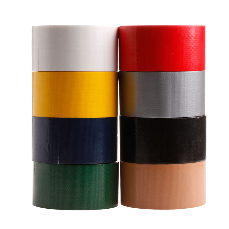 YIKAA 10Mx50mm Waterproof Sticky Adhesive Cloth Duct Tape Roll Craft Repair Red/Black/Blue/Brown/Green/Silvery Gray/White/Yellow