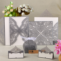 48PC Lot Crown Laser Wedding Invitation Party Table Name Place Cards Candy Boxes Birthday Party Invitation