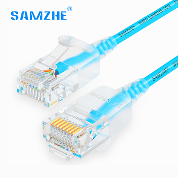 SAMZHE cat6 Ethernet-kabel 500 MHz 1000 Mbps Ultrafeinen RJ45 ...