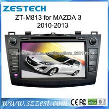 ZESTECH 7 inch In-Dash Double Din 2010 -2013 Mazda 3 car dvd with monitor GPS navigation TV RADIO USB SD input rear view