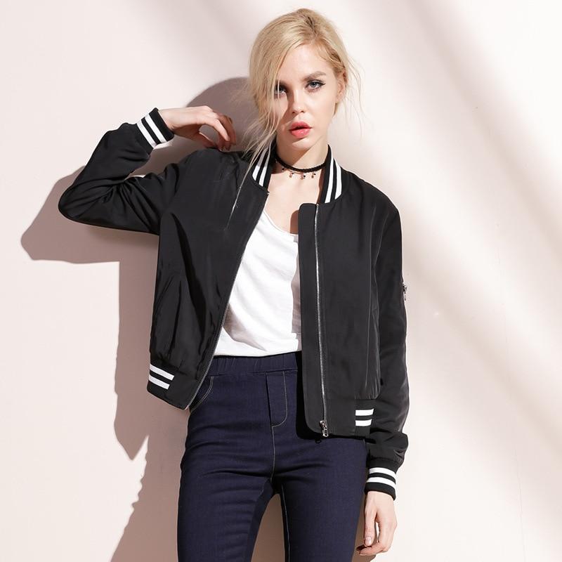 Bootyjeans 2017 Spring Autumn New Women's Baseball   Jacket   V-neck Short Design Female Tops High Quality   Basic     Jackets   Clothing