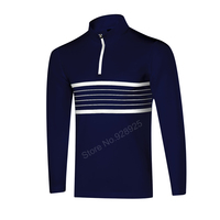 New Men Golf Shirts Long Sleeve Training Garment Sports Jersey Striped Polo Shirts Tops Golf Outwear