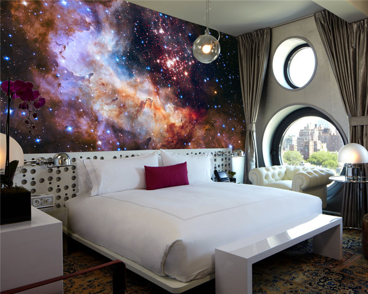 Lovely 3D Gorgeous Galaxy Photo Wallpaper Custom Silk Wallpaper Starry Night Wall  Mural Art Painting Hoom Decor Kid Bedroom Living Room In Wallpapers From  Home ...