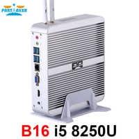 Partecipe B16 Intel Core i5 8250U DDR4 Fanless Mini PC WIN10 Mini PC Windows10 Con HDMI VGA USB