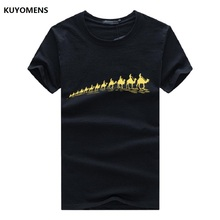 Cool Camels Convoy Print T-Shirt For Men