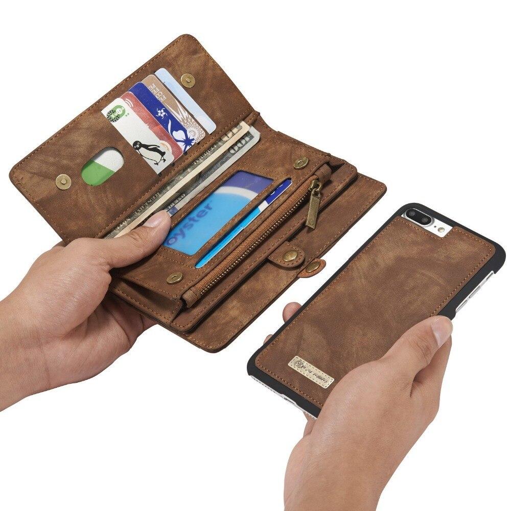 Роскошные Пояса из натуральной кожи бумажник чехол для iphone 8 8 плюс Folio молнии Магнитная Съемная крышка Чехол для iphone 8 Plus/ 8 Coque