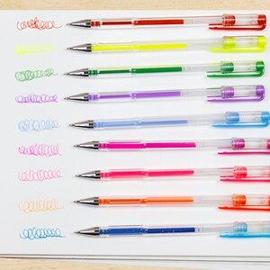 Image 5 - Bgln 24/48/60/100 צבעים ג ל עט סט מילוי ג ל דיו עט מתכתי פסטל ניאון גליטר סקיצה ציור צבע עט אמנות מכתבים