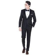 wedding dress black for groom tuxedo mens suit slim fit custom made formal wear 2017 fashion suit