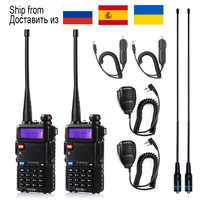 1 pièces/2 pièces talkie-walkie Baofeng uv-5r Station de Radio 5W Portable Baofeng uv 5r de russie Ukraine espagne entrepôt radio amateur