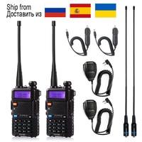 Baofeng-Walkie Talkie uv-5r portátil, estación de Radio, 5W, uv 5r, de Rusia, Ucrania, España, almacén, radioaficionado, 1 Uds./2 uds.