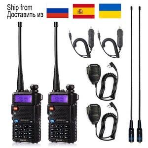 1pcs/2pcs Walkie Talkie Baofeng uv-5r Radio Station 5W Portable Baofeng uv 5r from Russia Ukraine Spain warehouse radio amateur