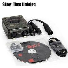 New version Powerful Daslight DVC4 DMX Software stage light controller computer control DJ Stage Light USB Lighting Interface цена 2017