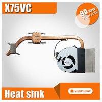 For Asus Laptop Notebook On Board CPU Cooling Radiator Heatsink Fan X75 X75V X75VB X75VC X75VD