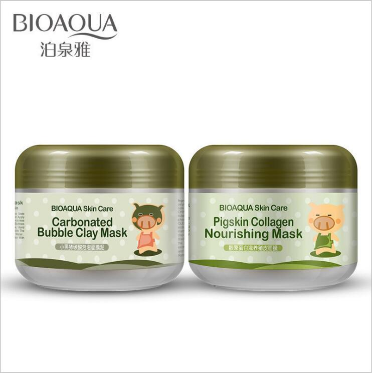 100G Skin Care Carbonated Bubble Clay Mask For Face Nutrition Repair Face Cream Whitening Hydrating Moisturizing Facial Masks