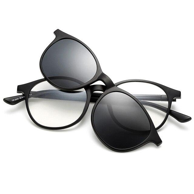 Brightzone Baru Kacamata Fashion Retro Terpolarisasi Kacamata TR90 Miopia  Cermin Gaya Sekolah Pria dan Wanita Model 5909f70aca