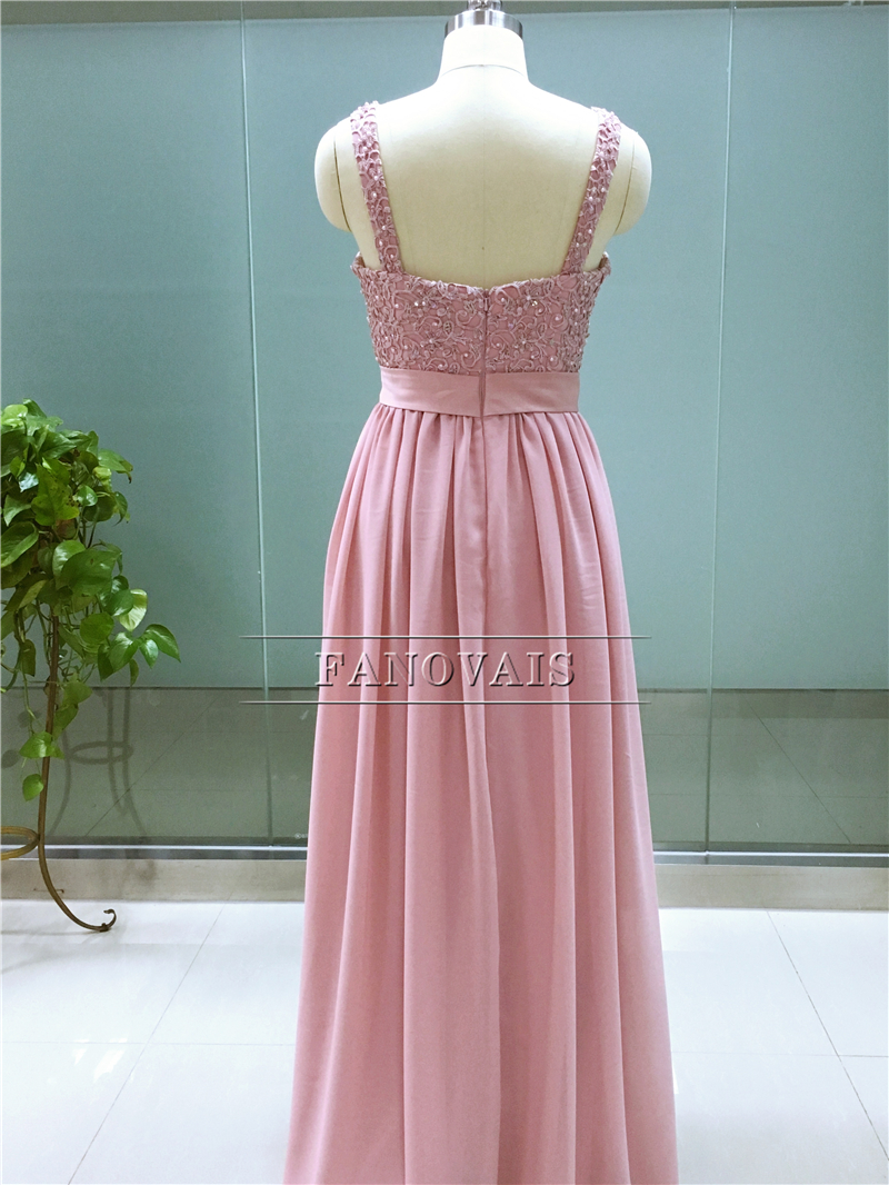 Cheap Real Image Sweetheart Straps A Line Appliques Beaded Long ...