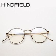 a1355be1910d1 2017 Newest High quality Metal Optical frame Men Round Eye glasses frames  for women Transparent Lens Pink Glasses frames O354