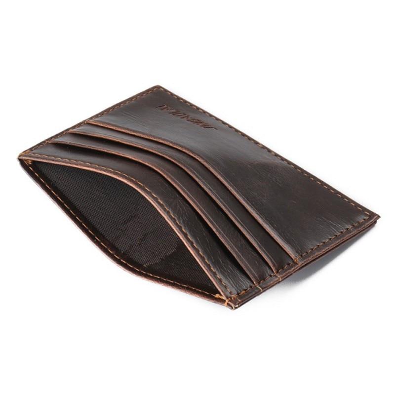 Moda Slim 2side ranuras Titular de la tarjeta de crédito Famoso paquete de tarjetas de marca carteras para hombres mujeres café paquete de tarjeta de autobús pequeño monedero