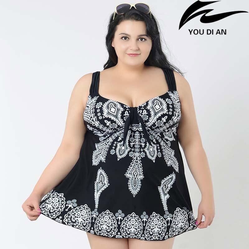 Plus szie maillots de bain femmes 4XL à 10XL grande taille maillot de bain deux pièces grande taille maillot de bain beachwear