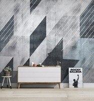 [Self Adhesive] 3D Dark Color Geometric Line 5 Wall Paper mural Wall Print Decal Wall Murals