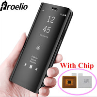 Proelio Touch Flip Stand Case For Samsung Galaxy S8 S8 Plus S7 S6 Edge Smart Chip