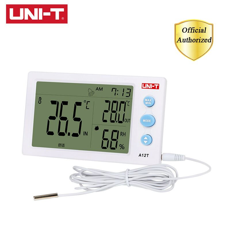 12V Digital Indoor Outdoor LCD Thermometer Hygrometer Temperature Humidity Meter