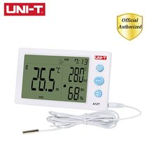 UNI-T A12T Digital LCD Thermometer Hygrometer Temperature Humidity Meter Alarm Clock Weather Station Indoor Outdoor Instrument uni t a12t digital lcd thermometer hygrometer temperature humidity meter alarm clock weather station indoor outdoor instrument