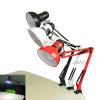 5W 400LM Foldable Long Arm Book Reading Lights E27 Clip on Desk Lamp (AC110~220V), free shipping