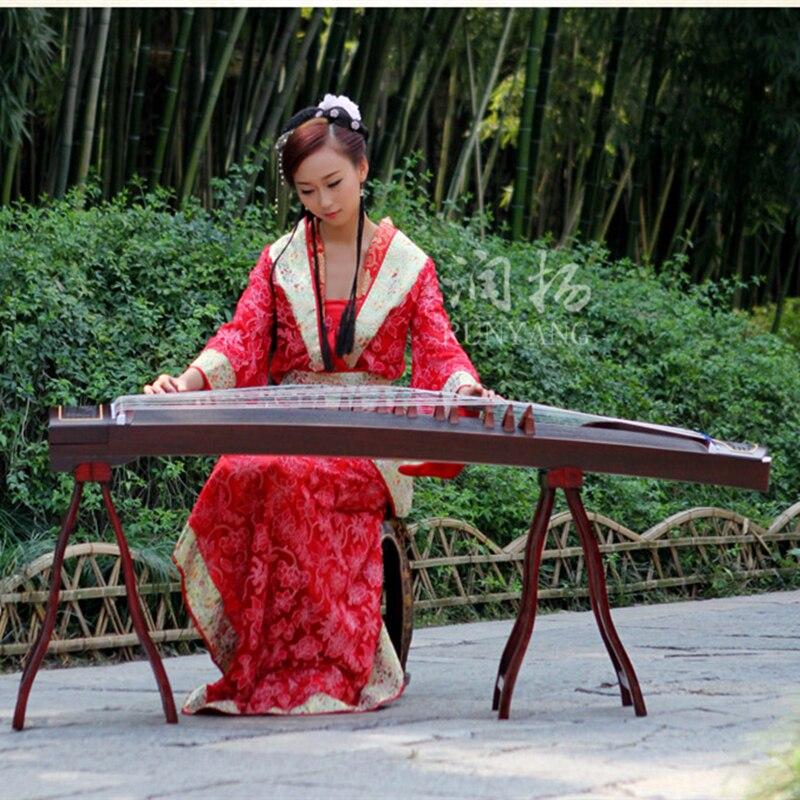 Chinois Guzheng violon instruments de musique professionnels cithare creuser incrustation débutant étude 13 types de motif