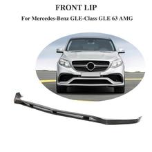 Передний спойлер для губ бампер передний спойлер для Mercedes-Benz GLE Class CLE63 AMG 2015-2018 углеродного волокна