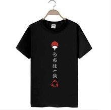 Naruto T-shirt Anime Sasuke Uchiha t shirt Cotton Summer Tee tops