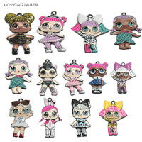 Choose Design First 10pcs Bag Full Enamel Zinc Alloy Fashion Kids Pendants For Chunky Fashion