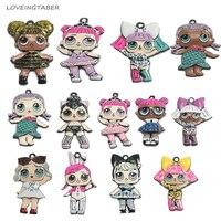 Choose Design First 10pcs Bag Full Enamel Zinc Alloy Fashion Kids Pendants For Chunky Fashion