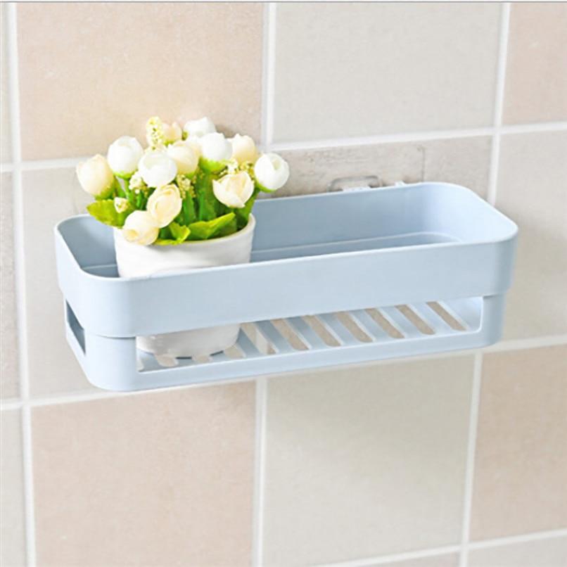 Plastic Suction Cup Bathroom Kitchen Corner Storage Rack Organizer Shower  Shelf Wholesale Free Shipping 30RH10 #3T5 In Storage Baskets From Home U0026  Garden On ...