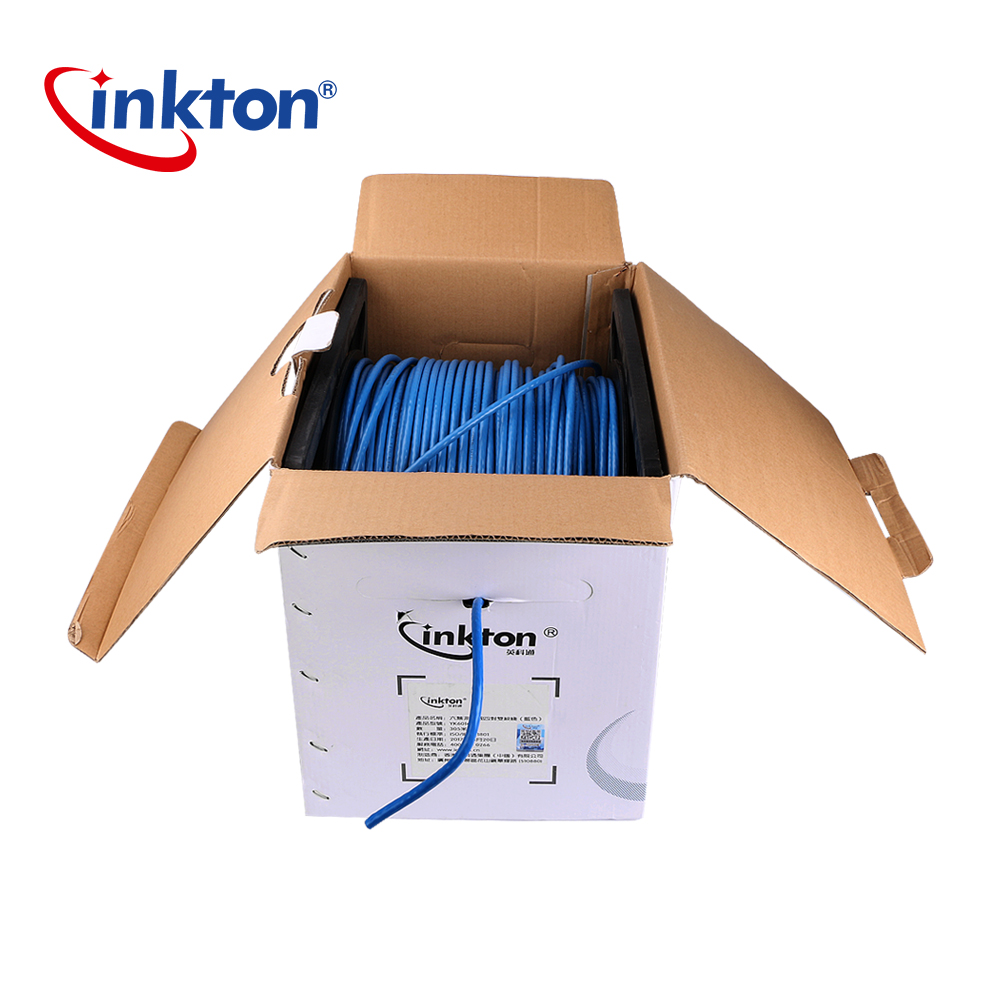 Inkton High Quality Ethernet Cable Cat6 UTP 1000mbps Oxgen-free Copper Twisted Pair Wire Blue Network Cable Lan Router 23AWG