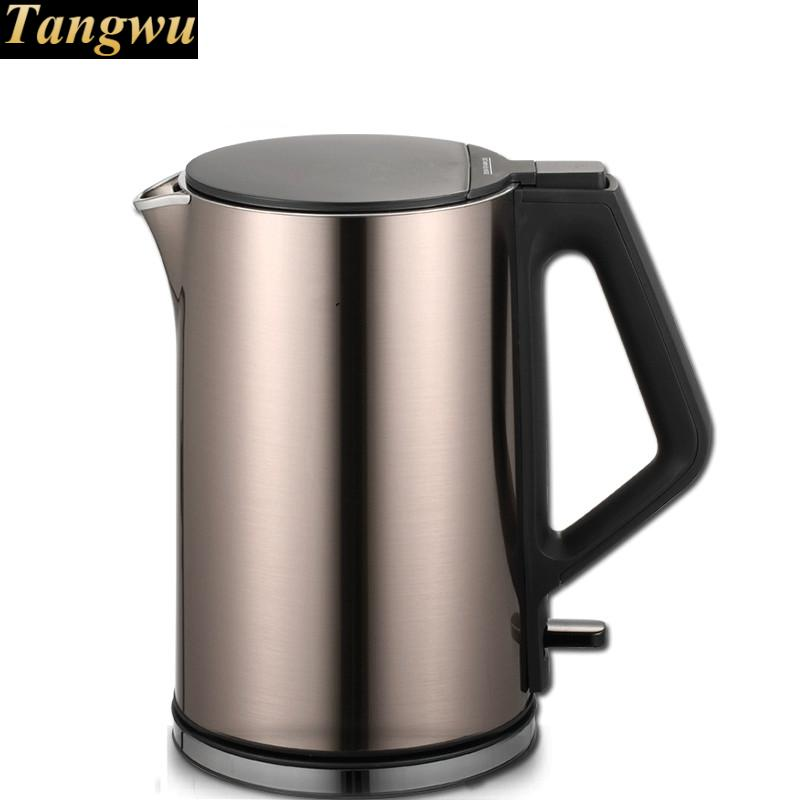 Electric heating kettle household 304 stainless steel to prevent the automatic power loss small cukyi household electric multi function cooker 220v stainless steel colorful stew cook steam machine 5 in 1