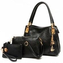 New women handbag set bag high quality leather handbags shoulder bag for women messenger bags fashion leather purses and handbag
