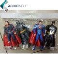 Batman vs Superman Justiça Batman Superman Action Figure Coleção Fã do Amanhecer Modelo Para As Crianças Presentes Brinquedos 4 peças/set