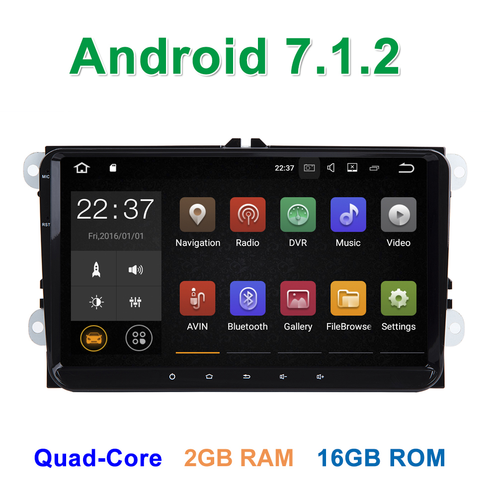 9 Android 7 1 2 car dvd radio font b multimedia b font player for vw