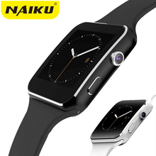 NAIKU Bluetooth Smart Watch X6 Sport Passometer font b Smartwatch b font with Camera Support SIM