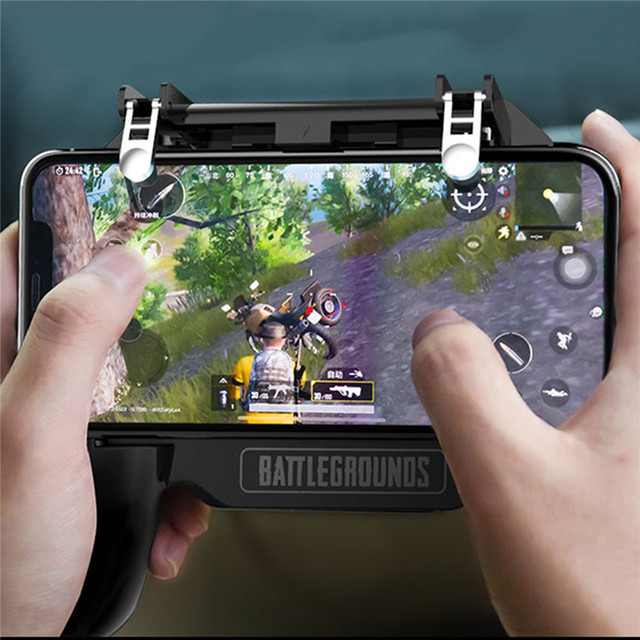Mobile Phone Gamepad Joystick Controller with Cooling Fan L1R1 Fire Shooter Handle Remote Console For PUBG Game IOS Android