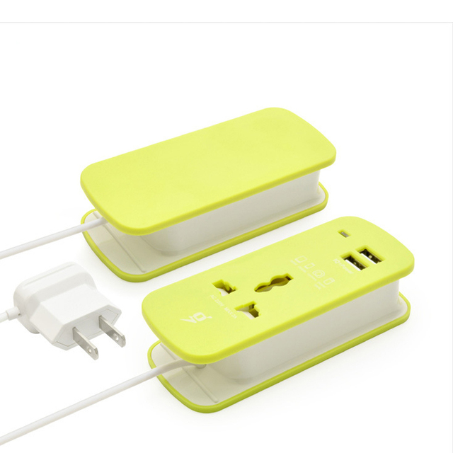 2016 Socket UK Portable 2 USB Port Charging Station with Universal Power Cord Home and Travel Use