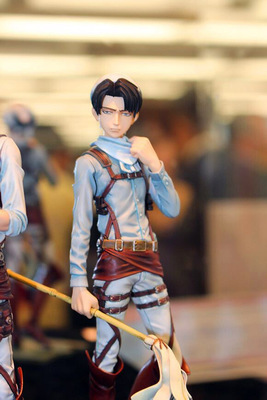 Japanese anime figure Attack On Titan Levi Ackerman rivaille action figure collectible model toys for boys anime attack on titan chibi ackerman